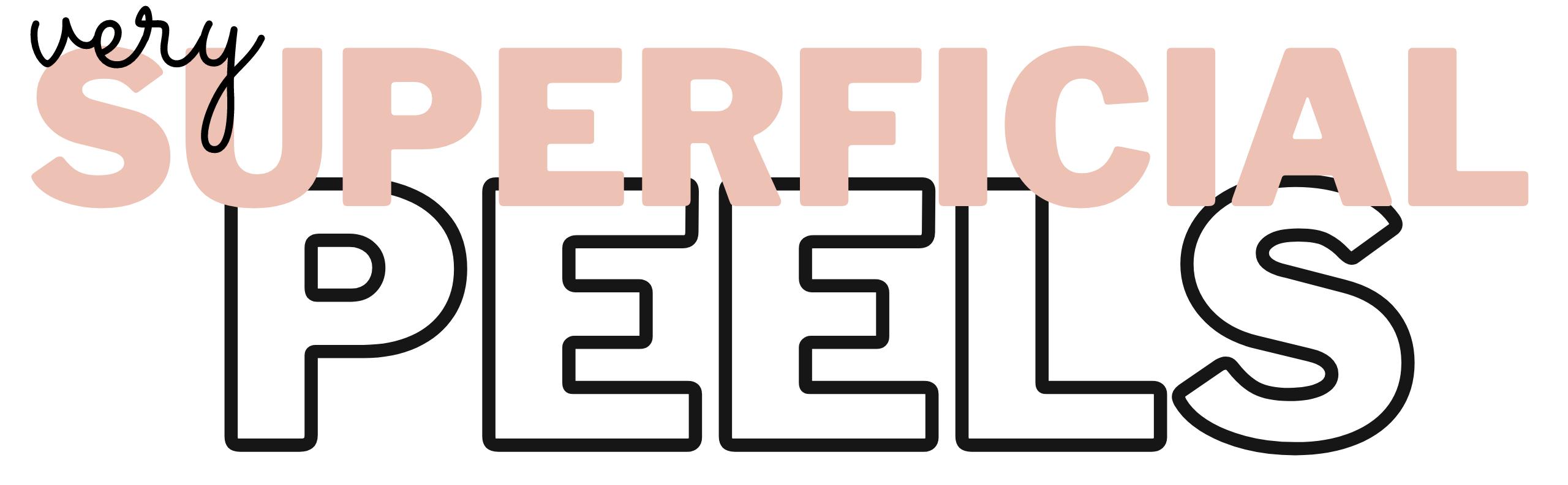very superficial peels